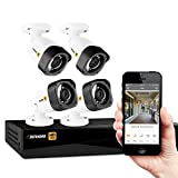 Defender HD 1080p 4 Channel 1TB Security System with 4 Bullet Cameras