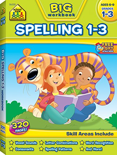 School Zone - BIG Spelling Grades 1-3 Workbook - Ages 6 to 9, Letter Sounds, Consonants, and Puzzles (Big Get Ready Workbook)