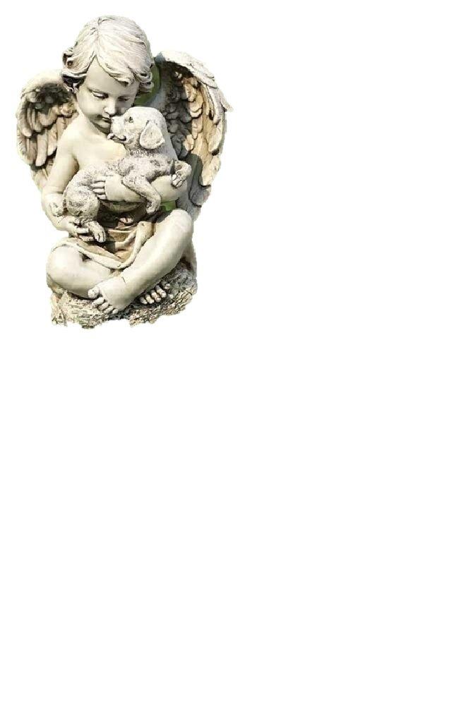 Cherub with Puppy Statue