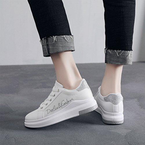 Mode JRenok Femme Antidérapantes Baskets Plateforme Filet Chaussures de 40 Confortable Sneakers 35 Respirant rqrwE1xaWS