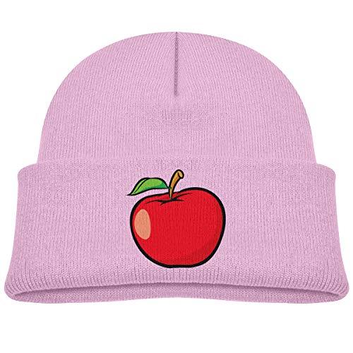 Kids Knitted Beanies Hat Red Fruit Apple Winter Hat Knitted Skull Cap for Boys Girls Pink ()