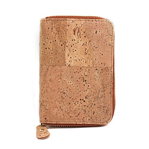 Poche Portefeuille de Fermeture Friendly Cadeau support Motif pièce avec autour Peau Vegan Eco avec portefeuille boshiho monnaie Mode Éclair de en liège ZqpxBwnOt