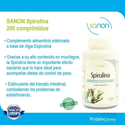 SANON Spirulina 200 comprimidos de 500 mg: Amazon.es: Salud y cuidado personal
