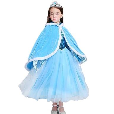 Kids Sofia Elsa Hooded Cape Fashion Hood Cloak Costume Halloween Christmas  Party School Dress Up for d374726b5373