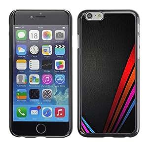 """For Apple (5.5 inches!!!) iPhone 6+ Plus / 6S+ Plus , Las líneas limpias colores vibrantes de cuero negro"""" - Diseño Patrón Teléfono Caso Cubierta Case Bumper Duro Protección Case Cover Funda"""