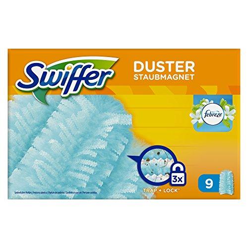 Swiffer Staubmagnet Nachfüller mit Febrezeduft, 6er Pack (6 x 9 Tücher)