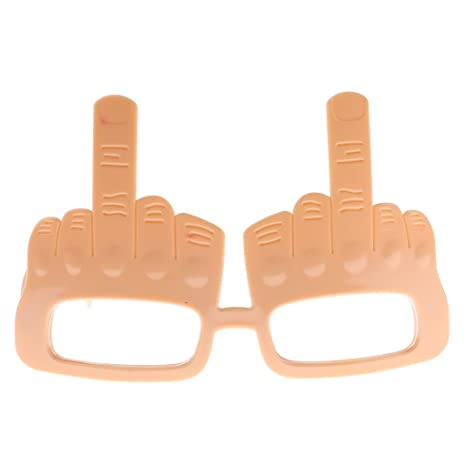 /35380/ /Middle Finger Design Plastic Glasses/ /One Size Ptit clown/