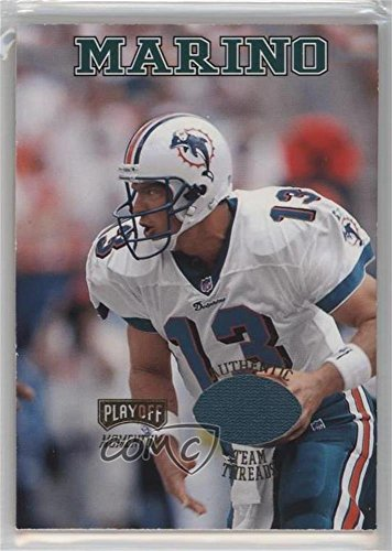 13 Dan Marino Jersey (Dan Marino (Football Card) 1998 Playoff Momentum SSD - Team Threads - Home Jerseys #13)
