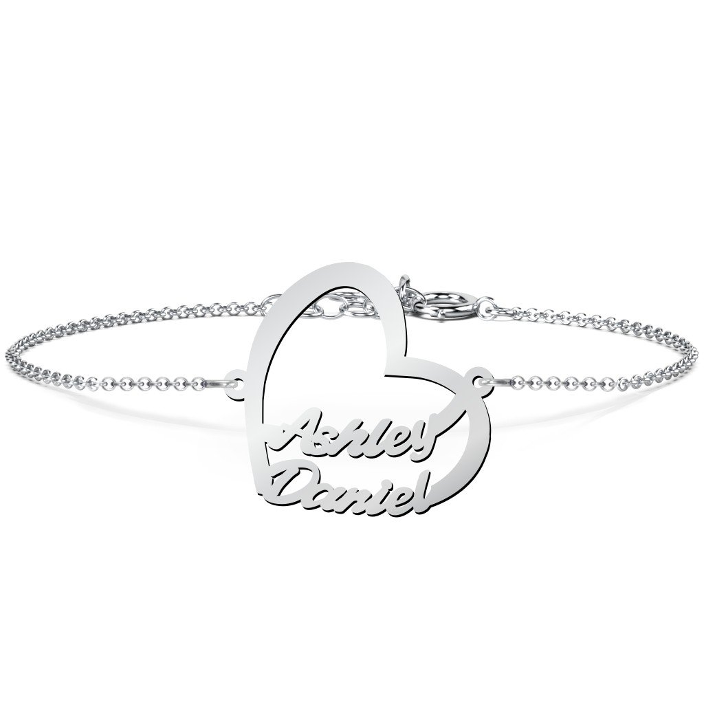 Sterling Silver Written With Love Personalized Name Bracelet by JEWLR