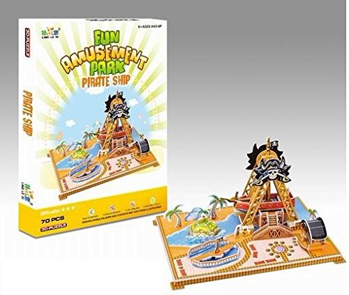 Big Daddy's 3-D Puzzel Building Set, Fun Amusement Park Series, Create A Pirate Ship Thriller Ride