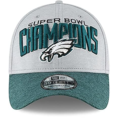 96ee037d1 Philadelphia Eagles New Era Gray Midnight Green Super Bowl LII Champions  Two-Tone 39THIRTY