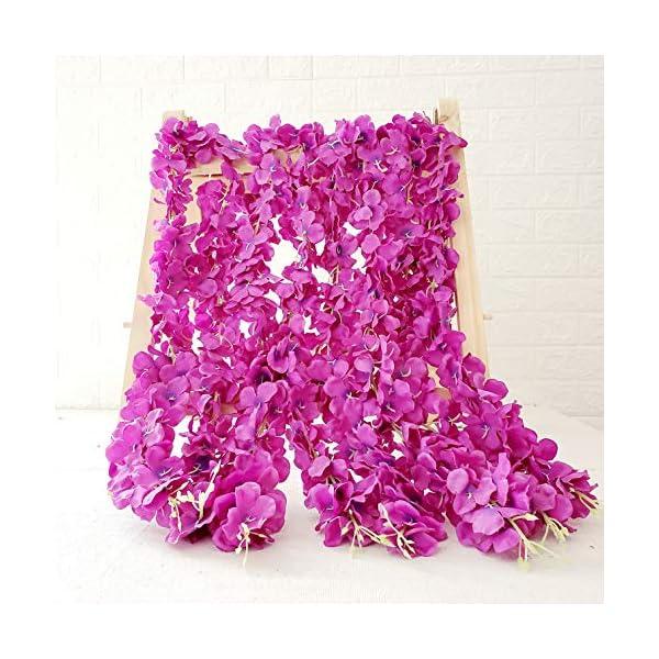 Belle Fleur Artificial Wisteria Vine 10Pcs 3.3FT/Pcs, Silk Hanging Flower Garland for Wedding Arch Party Home Décor(Purple)