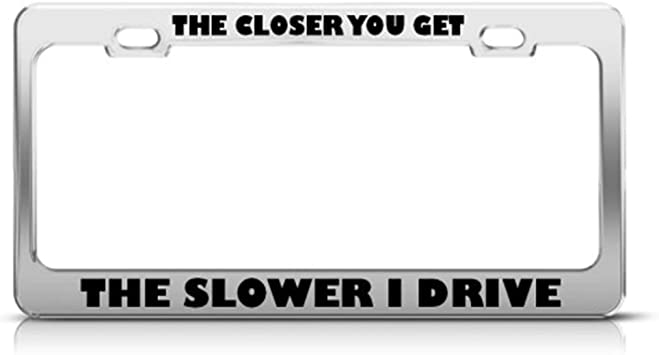 License Plate Frame Slave to The Traffic Light Zinc Weatherproof Car Accessories