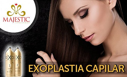 Amazon.com: Exoplastia Capilar Original Exoplasty Capillary Brazilian Hair Smoothing Keratin Nanotech 2 x 500ML: Beauty