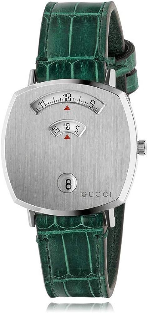 Gucci Reloj Grip 38 mm acero inoxidable GG Engraved YA157404