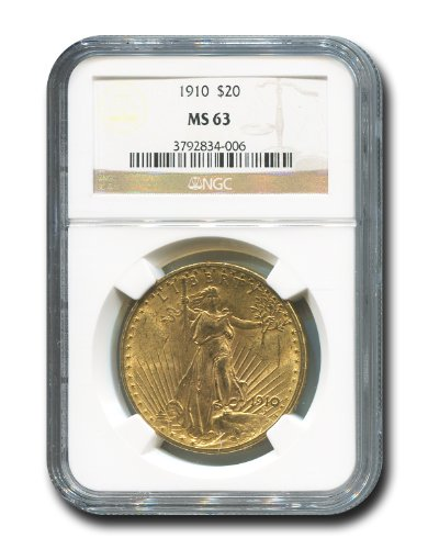 1910 No Mint Mark Saint Gaudens Twenty Dollar NGC MS-63