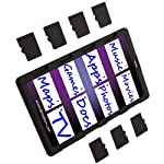 DiMeCard micro8 microSD Memory Card Holder (Ultra thin credit card size holder, writable label) 8 Ultra-slim design - 1/10th inch thin, credit card size for wallet (thinnest in the world!) Writable panels to note memory card contents Ideal companion for camera phones, smart phones & tablet PC's