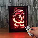 GTY TOEWR 3d Photo Frame Light Night Light, Colorful Remote Control Touch Led Light Creative Products Gift Night Light Usb Interface-Touch + Remote