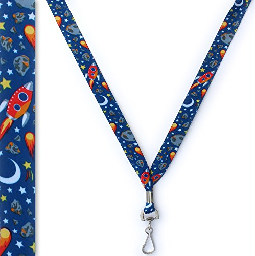 Outer Space Travel Lanyard - Soft Printed ID Neck Lanyard