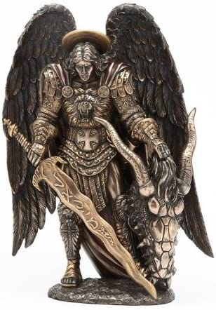 St. Michael Killing Dragon Statue 10.75 Inch Figurine by Pacific Giftware