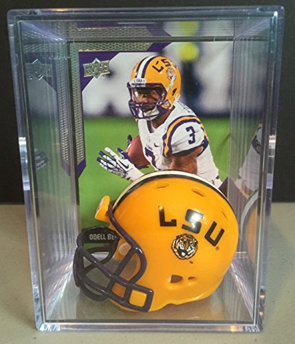 LSU Tigers NCAA Helmet Shadowbox w/ Odell Beckham Jr. card