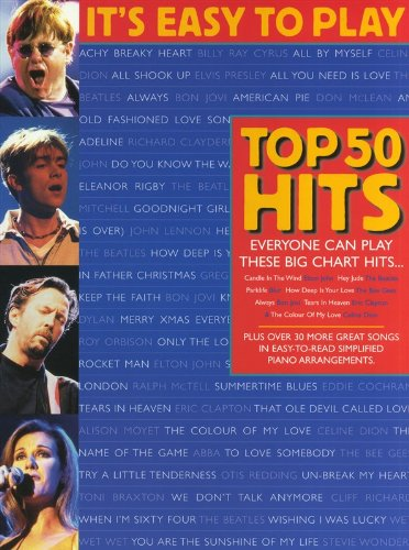 Symboles dAccords Chant et Guitare Partitions pour Piano Its Easy To Play Top 50 Hits Volume 1