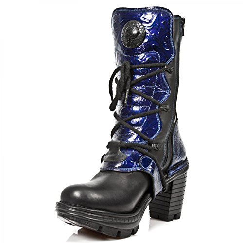 Nuovi Stivali Da Roccia M.neotr005-s5 Gotico Hardrock Punk Damen Stiefel Schwarz