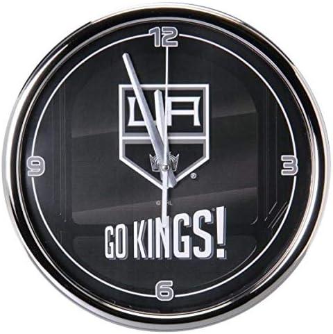 Amazon Com The Memory Company Nhl Los Angelos Kings Go Team Chrome Clock One Size Multicolor Sports Outdoors