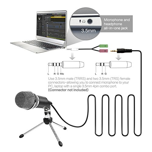 low-cost FIFine Microphone Condenser 3 5mm Plug and Play
