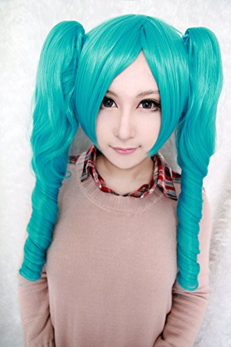 Amazon.com: sunny-business Anime Rizado azul Hatsune Miku ...