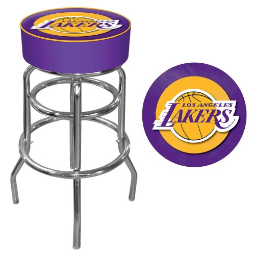 Trademark Gameroom NBA Los Angeles Lakers Padded Swivel Bar Stool by Trademark Gameroom