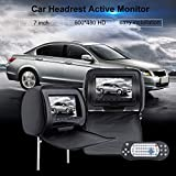 Businesscastle Universal LCD Screen Car Headrest Monitors 2 PCS 7 Inch Car DVD