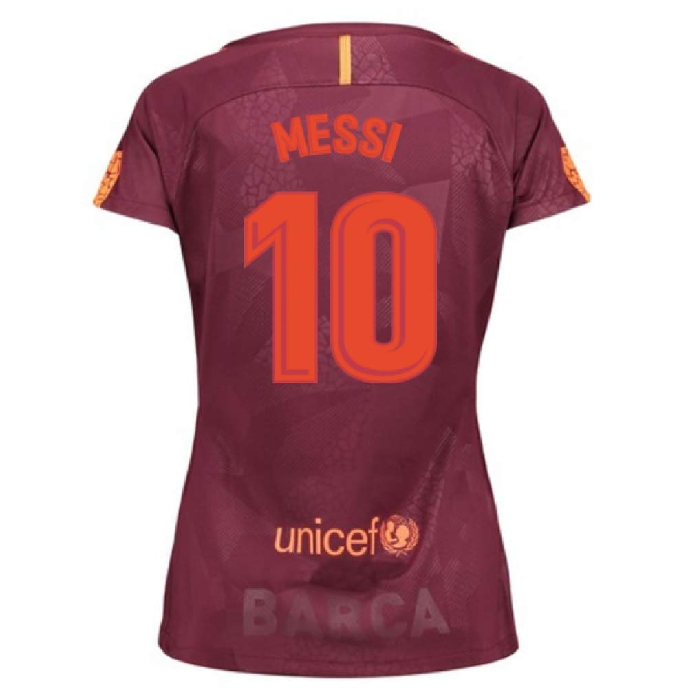 2017-18 Barcelona Third Damens Football Soccer T-Shirt Trikot (Lionel Messi 10)