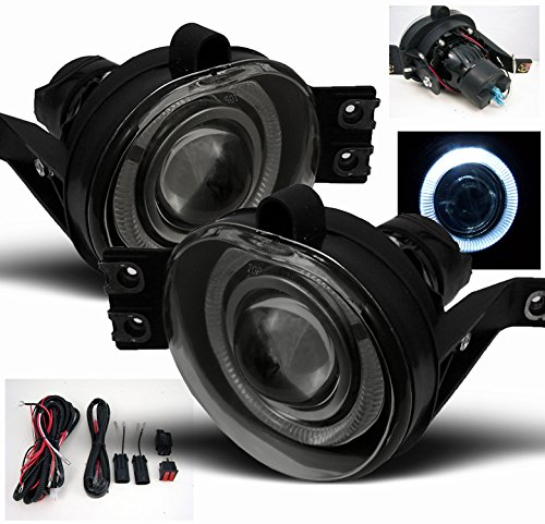 ZMAUTOPARTS Dodge Ram Halo Projector Bumper Smoke Fog Light Lamp+Harness