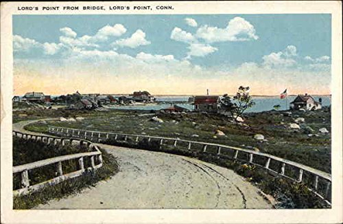Lord's Point from Bridge Lord's Point, Connecticut Original Vintage Postcard by CardCow Vintage Postcards