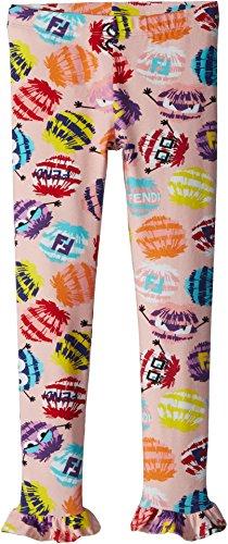 Fendi Kids Baby Girl's Fur Monster Print Leggings (Toddler) Multi - Clothes Kids Fendi