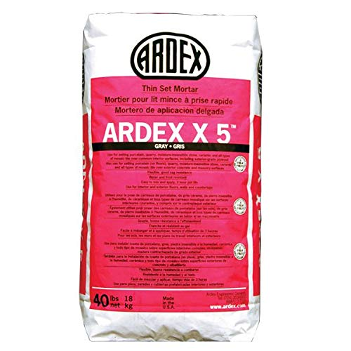 Ardex X 5 Flexible Tile & Stone Mortar (Gray), 40 lb. Bag by Ardex