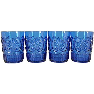 Set of 4 Le Cadeaux Classic Break Resistant Drinkware Tumblers or Water Glasses
