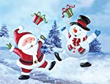 Collections Etc Christmas Cheerful Character Garden Decor Yard Stake, Snowman