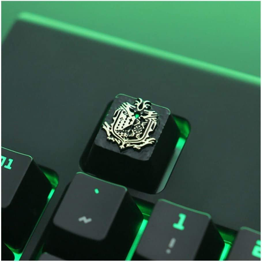 Keyboard keycaps Mechanical Keyboard 1 Galvanized Aluminum Keycap R4 Height Colore : Black