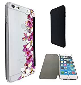 c0110 - Shabby Chic Wild Flowers Fleurs Design iphone 6 6S 4.7'' Fashion Trend Funky Smart Clear Plastic & TPU Flip Case Full Cover Purse Pouch Defender Book Case
