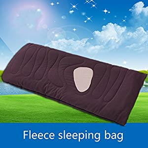 DMGF Camping Sleeping Bag Envelope Mummy Artificial Fleece Zippered Warm Cozy Bundle Sleeping Bag Lightweight Portable For Traveling Hiking Activities,Brown