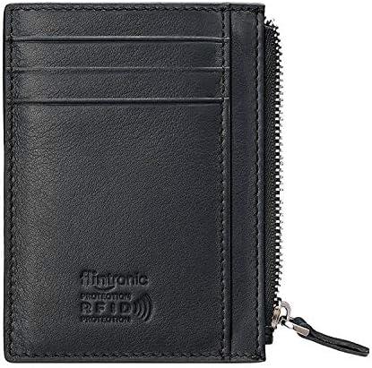 flintronic ® Tarjetas de Crédito Slim Moda RFID Bloqueo Monedero de Cuero, Mini Billetera para Cartera ID,Tarjetas Crédito Licencia de Conducir