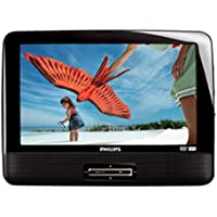 Philips PD9016P/37 LCD 9 Inches Dual Portable DVD Player (Black) (Refurbished)