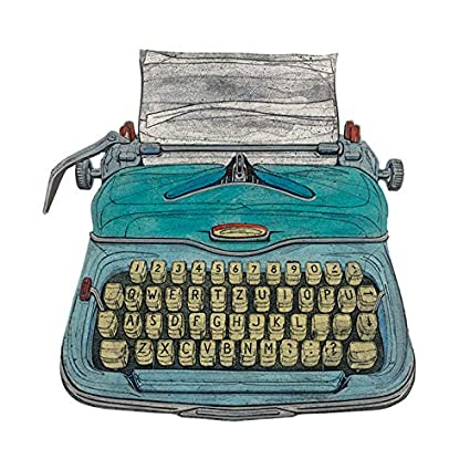 El Arte Grupo Barry Goodman (máquina de Escribir) – fotografía Sobre Lienzo (85
