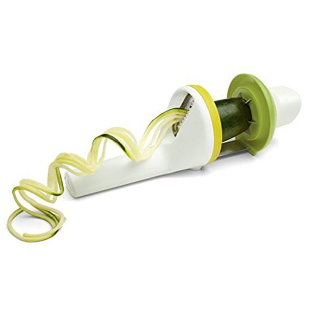 Angeloo Spiral Slicer With 3 Pasta Styles Twist Handheld Spiralizer Vegetable Slicer New Ergonomic Design (3 IN 1 Spiralizer)