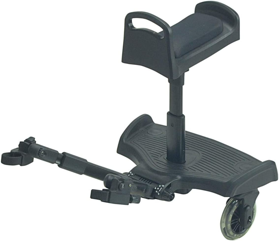 Black Ride On Board with Seat Compatible with Mutsy igo