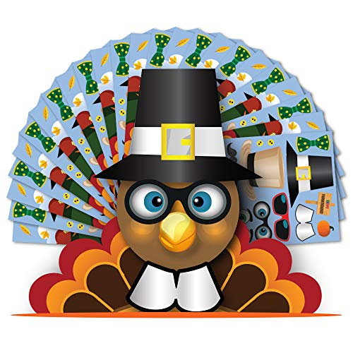 Colonel Pickles Novelties Make A Turkey Sticker Kits Halloween Thanksgiving Fall Crafts Kids