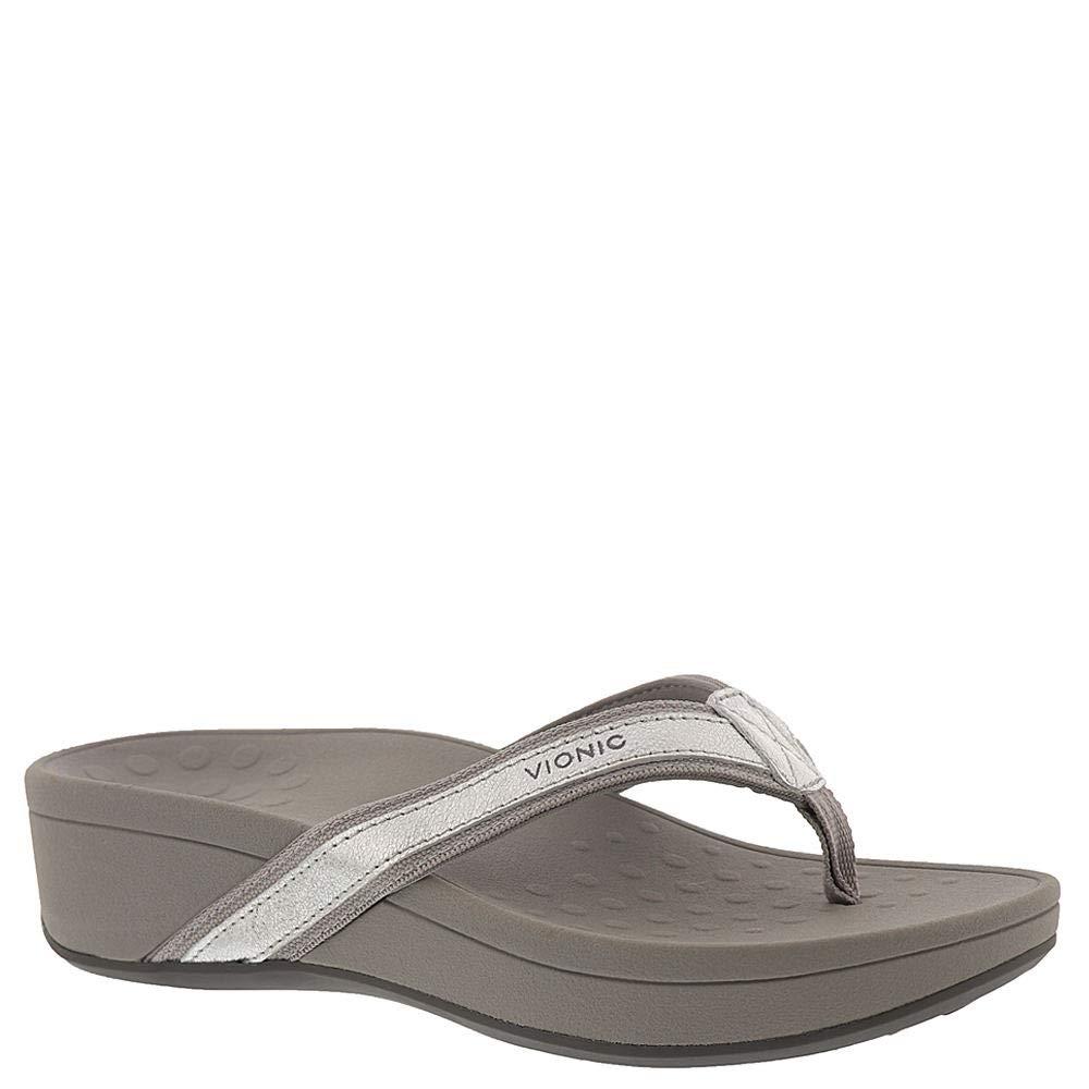 Silberfarben Metallisch Vionic damen 380 Hightide Pacific Leather Sandals
