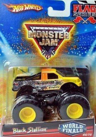 Hot Wheels Monster Jam 2010 Black Stallion Flag Series, World Finals # 66/75 (Small Truck) by Dubblebla